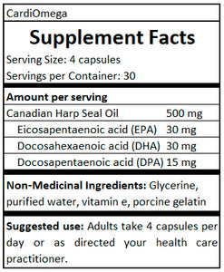 cardiomega supplement facts