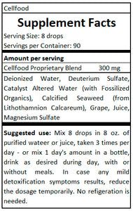 cellfood supplement fact