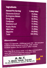 Load image into Gallery viewer, Femm8 10 capsules x 500mg | Women's Sexual Health