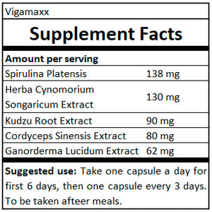 supplement facts vigamaxx