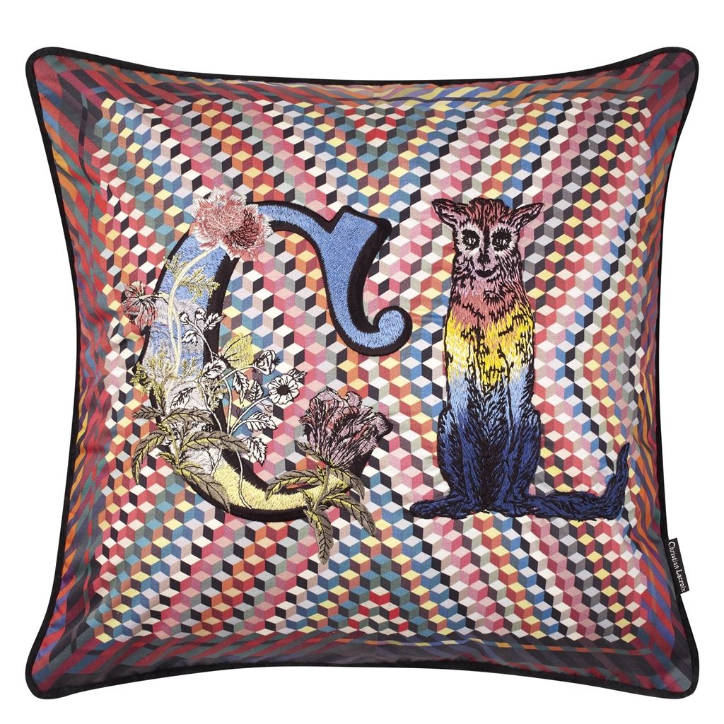 Monogram Me Lacroix! Multicolore Cushion