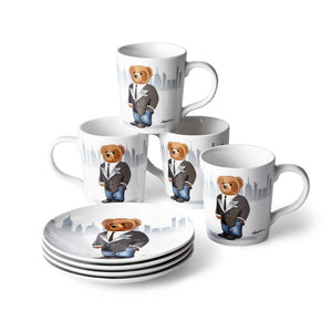Assiettes Dessert Haven City Bear (Set de 4)