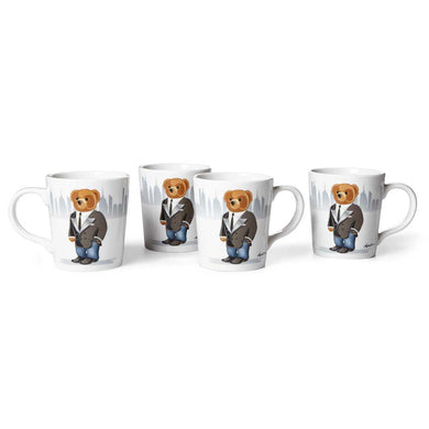 Mug Haven City Bear (Set de 4)