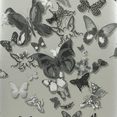 Butterfly Parade - Zinc Wallpaper