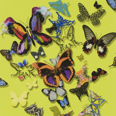 Butterfly Parade - Safran Wallpaper