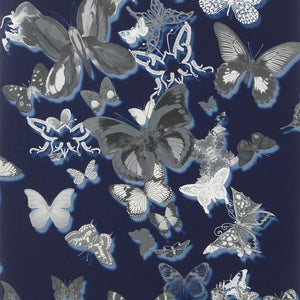 Butterfly Parade - Cobalt Wallpaper