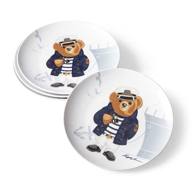 Assiettes Dessert Haven Navy Bear (Set de 4)