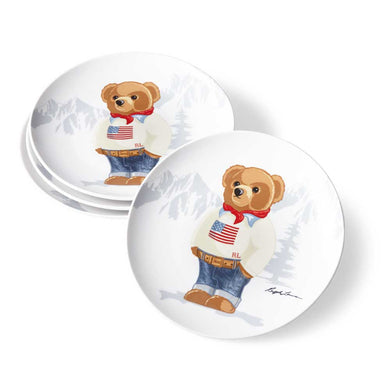 Assiettes Dessert Haven Flag Bear (Set de 4)