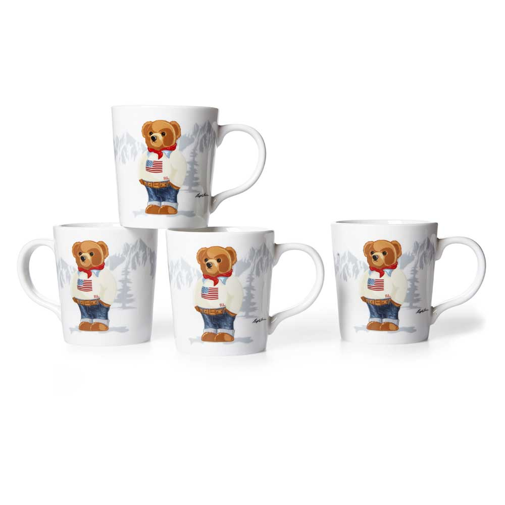 Mug Haven Flag Bear (Set de 4)