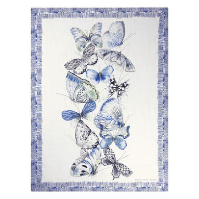 Papillons Cobalt Throw