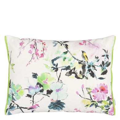 Chinoiserie Peony Outdoor Cushion