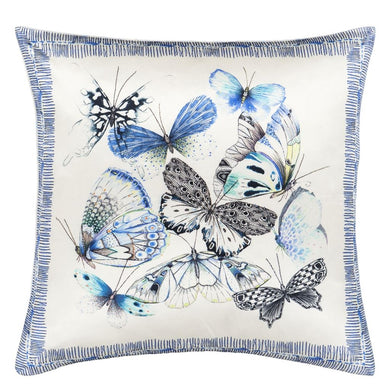 Papillons Cobalt Cushion