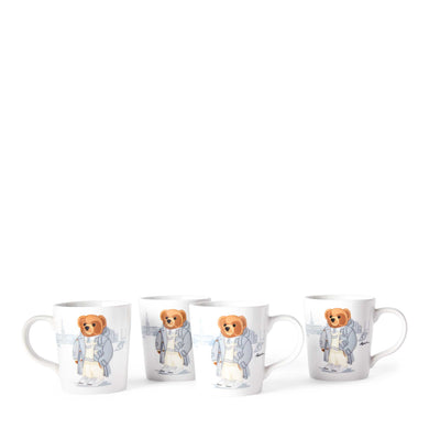 Mugs Haven Rugby Bear (Set de 4)
