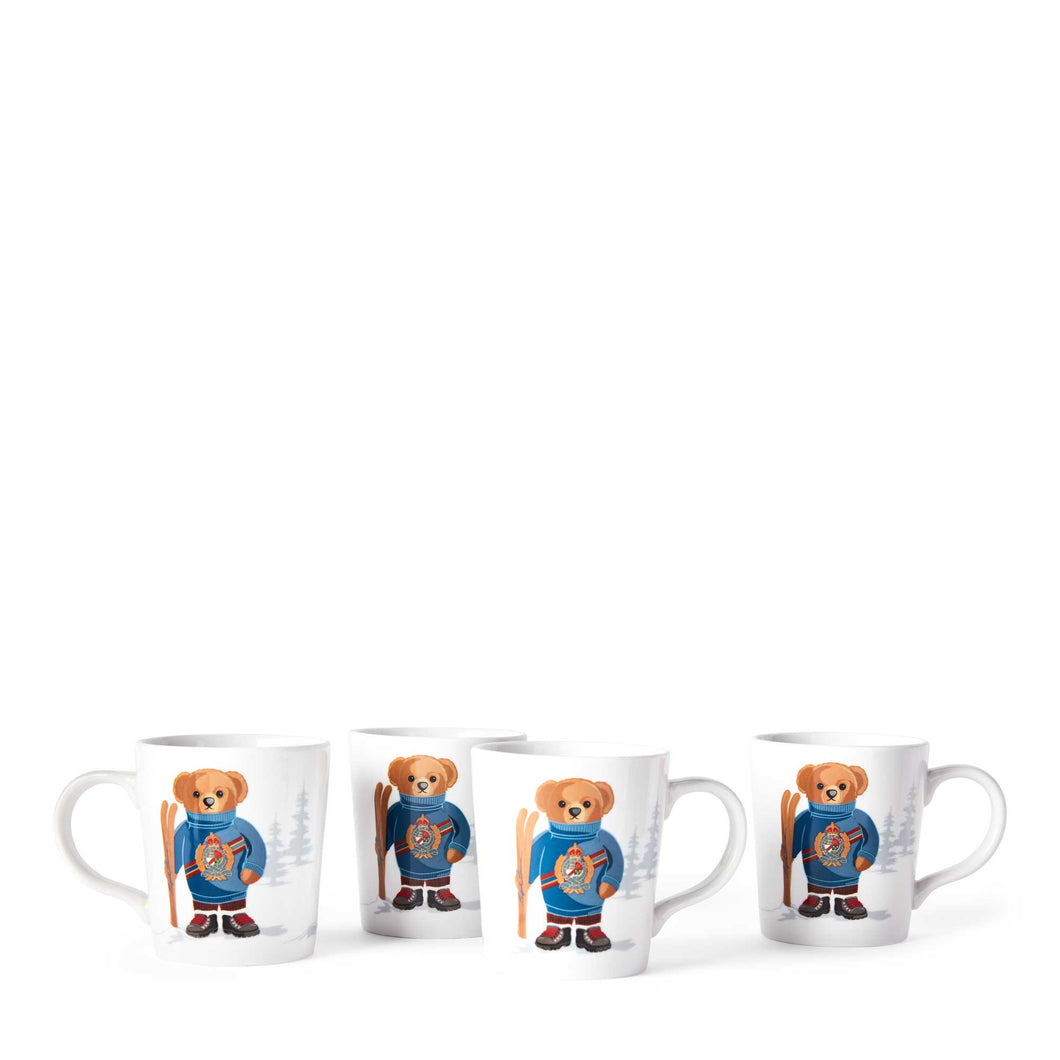 Mug Haven Ski Bear (Set de 4)