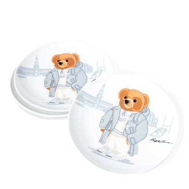 Assiettes Dessert Haven Rugby Bear (Set de 4)