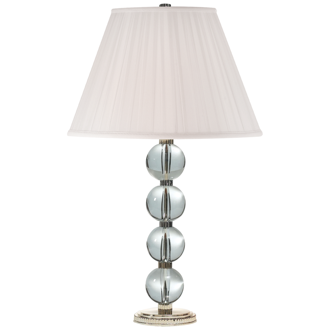Lampe de table Edmonds - Cristal et Argent