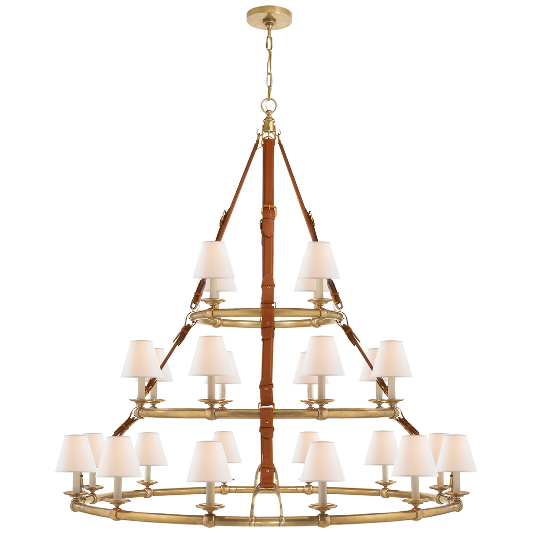 Chandelier Triple Westbury Laiton - Saddle