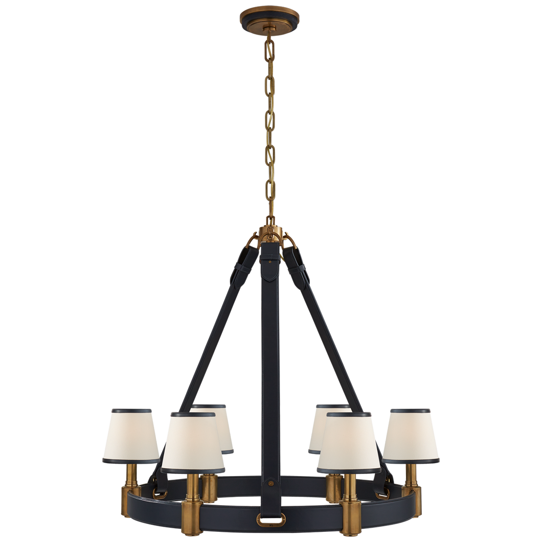 Chandelier Riley Laiton - Bleu