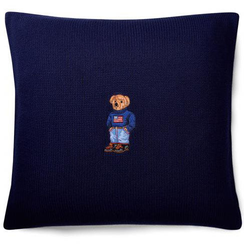 Coussin Bear Flag Navy de Ralph Lauren Home
