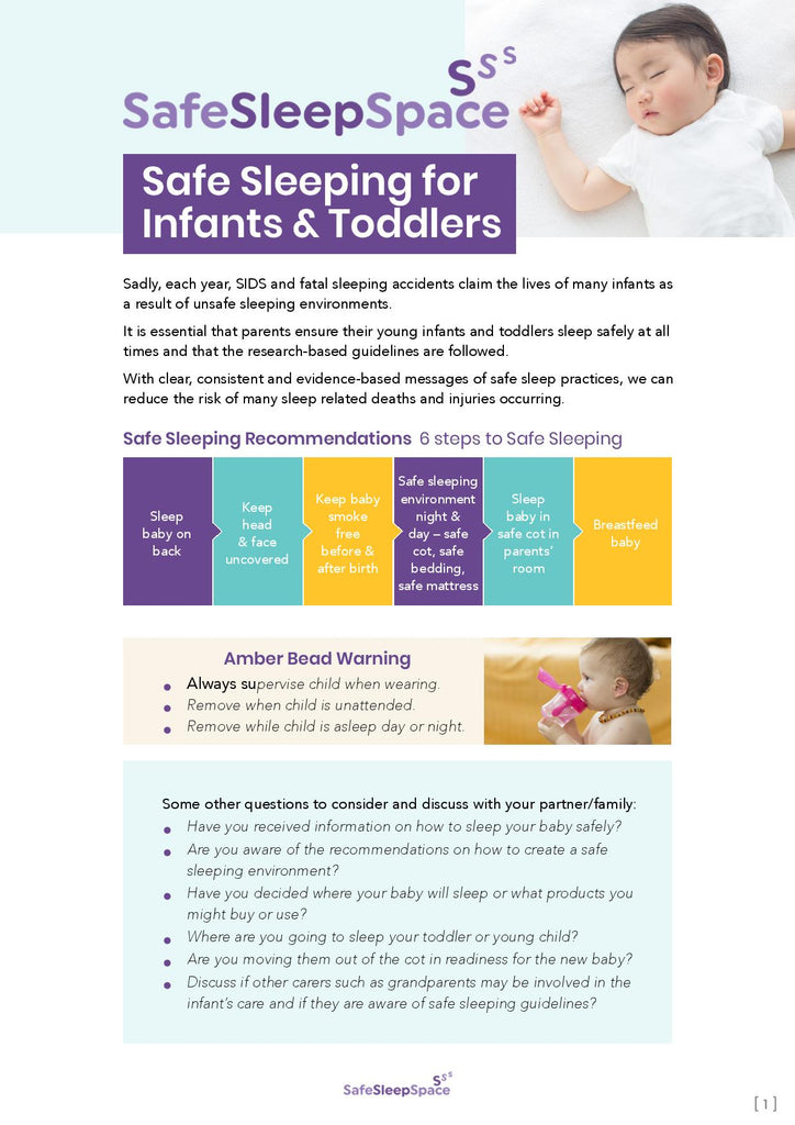 Safe Sleeping for Infants and Toddlers Checklist