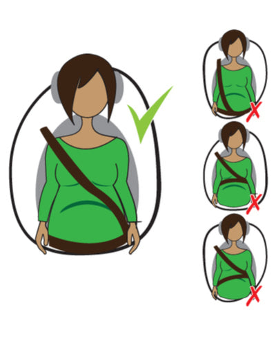 pregnancy seat belt safety diagram