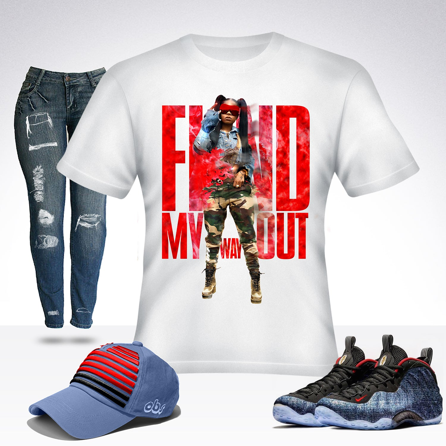 HOODCELEBRITYY FIND MY WAY OUT T-SHIRT