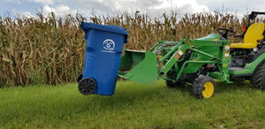 Trash/ Recycling Bin Mover for Forks and Bucket