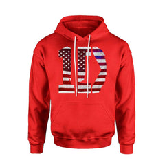 1D One Direction Flag US Logo Hoodie