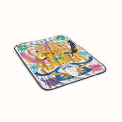 Adventure Time Funny Poster Fleece Blanket