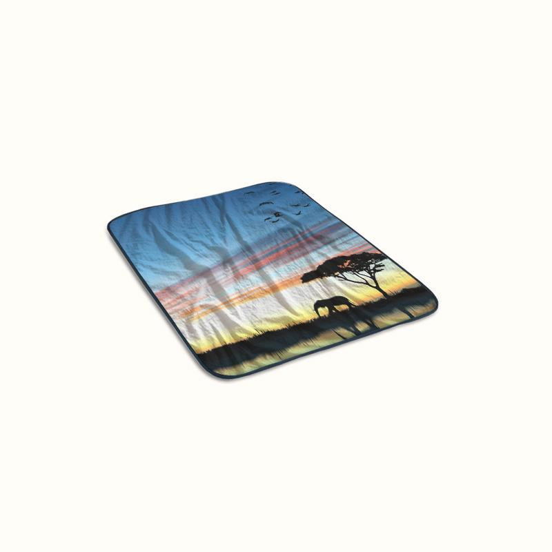 Africa Silhouette Fleece Blanket