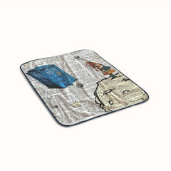Alice In Wonderland Tardis Doctor Who Fleece Blanket