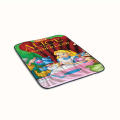 Alice in wonderland cover Fleece Blanket