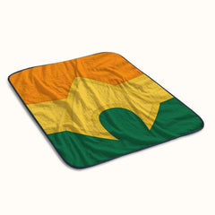 Aquaman Logo Fleece Blanket