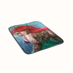 Ariel The Little Mermaid Sexy Tatto Fleece Blanket