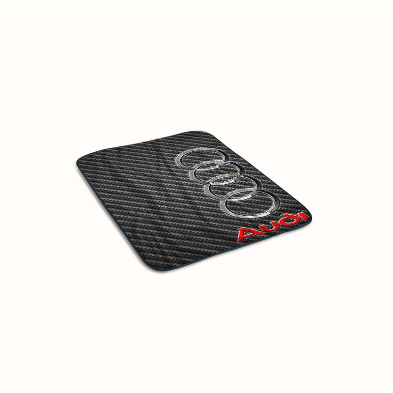 Audi logo on Carbon Fiber Fleece Blanket