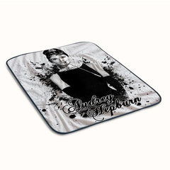 Audrey Hepburn Paint Fleece Blanket