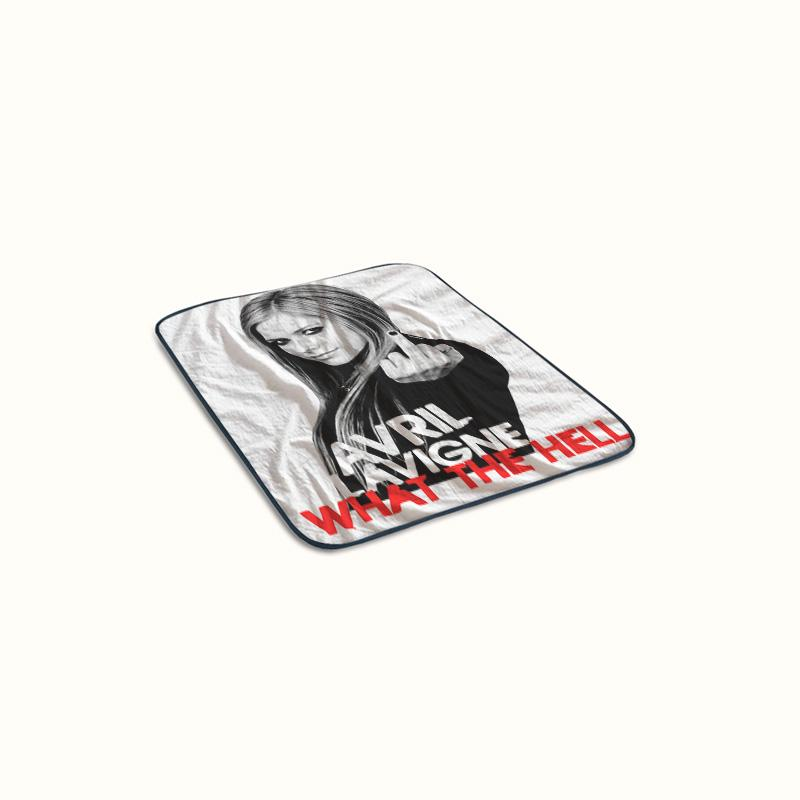 Avril Lavigne What The Hell Fleece Blanket