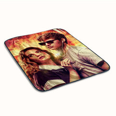 Baby Driver Poster Fleece Blanket