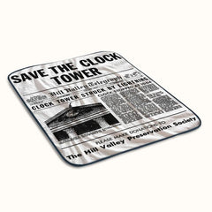 Back to The Future Save The Clock Tower Fleece Blanket