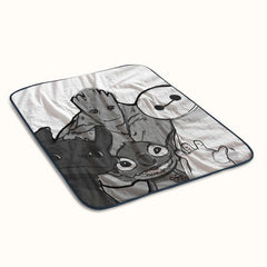 Baymax Groot Stitch Toothless Fleece Blanket