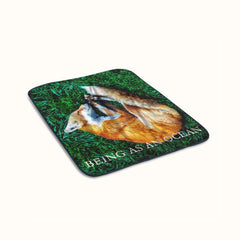 Being as An Ocean Sleeping Fox Fleece Blanket