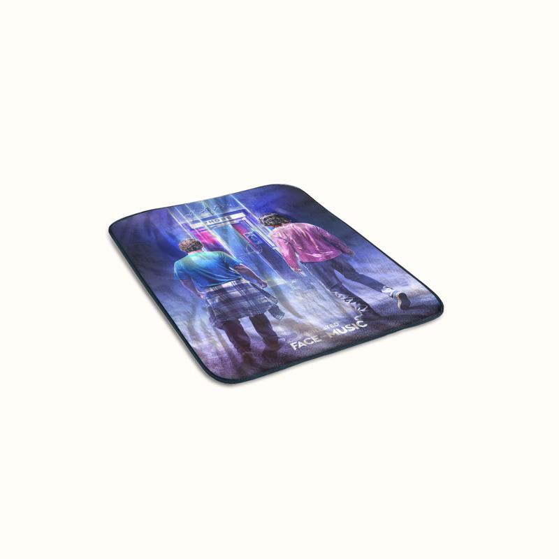 Bill and Ted Face The Music Poster Fleece Blanket