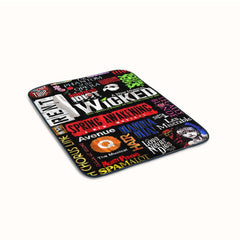 Broadway Musical Collage Poster Fleece Blanket