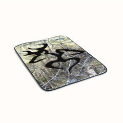 Browning Deer Love Camo Fleece Blanket
