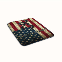 Browning Deer on flag US Fleece Blanket