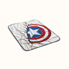 Captain America Logo Fleece Blanket