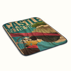 Castle in The Sky Fleece Blanket