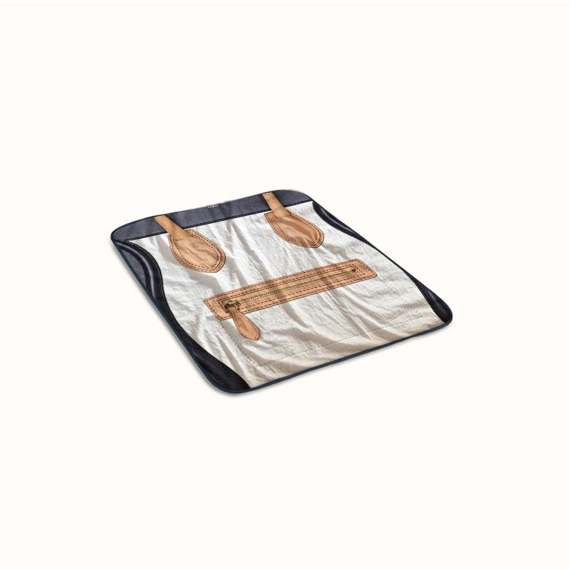 Celine Luggage Fleece Blanket