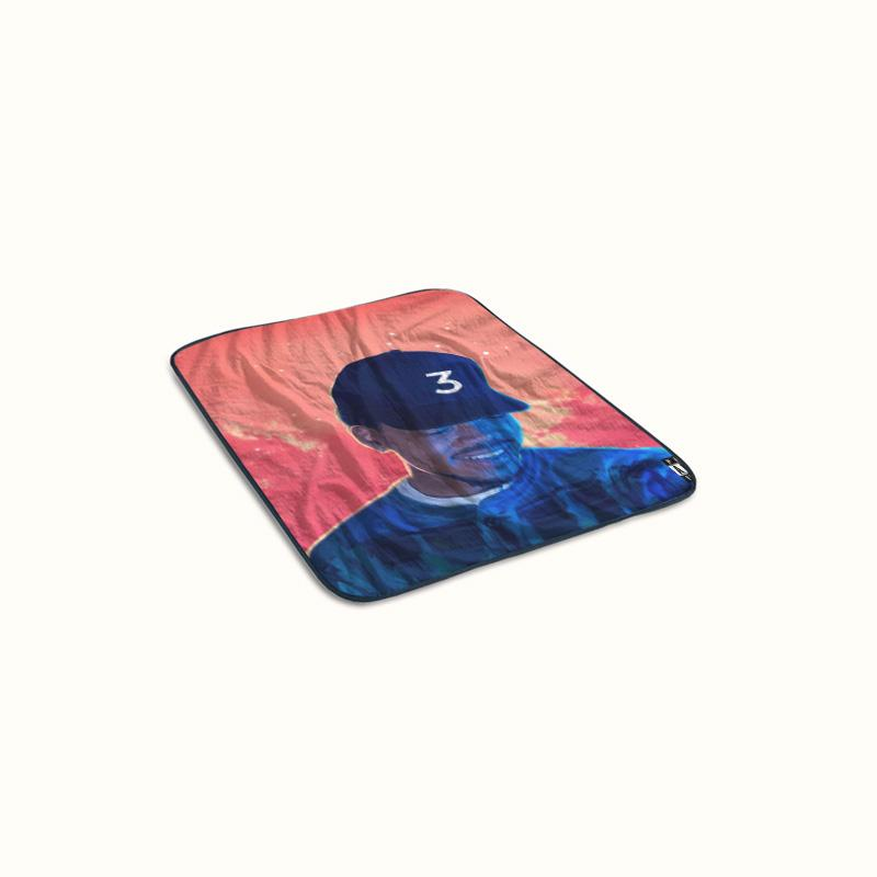 Chance The Rapper ft Lil Wayne and 2 Chainz No Problem Fleece Blanket