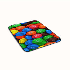 Chocolate Candy M and M Fleece Blanket